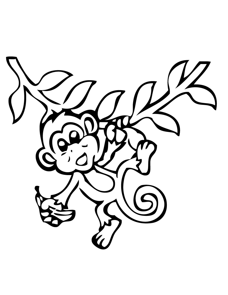 This is a photo of Crazy Monkeys Coloring Pages