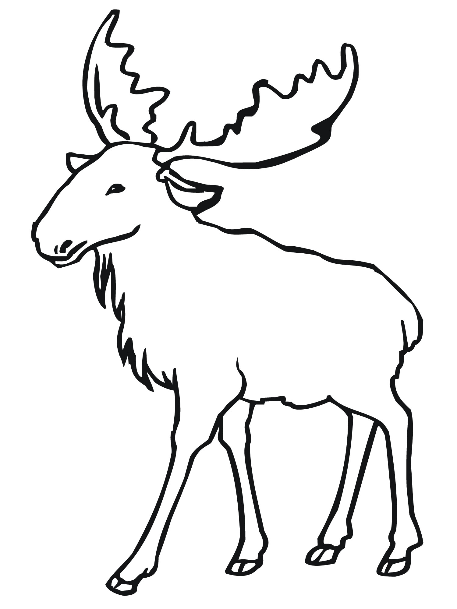 Free coloring pages elk - Moose Coloring Sheets