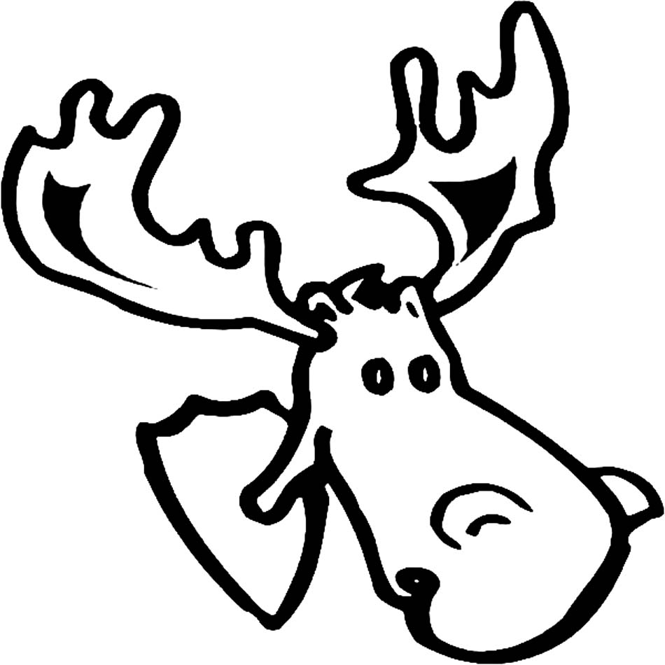 Moose head drawing outline - photo#20
