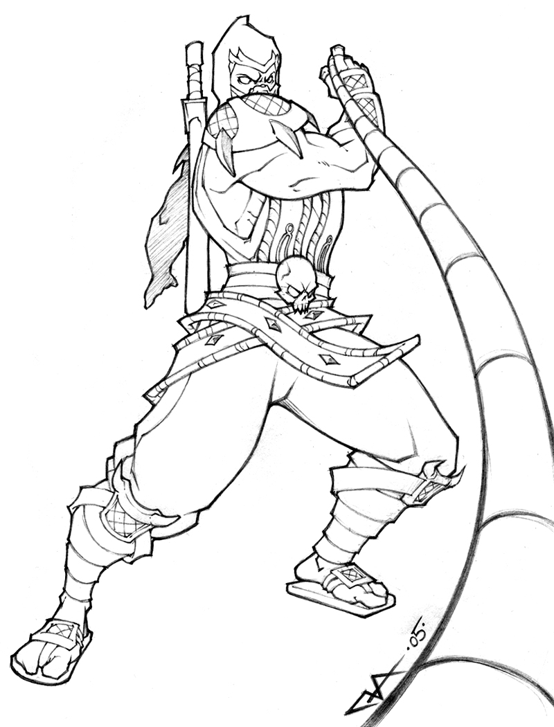 Disney universe coloring pages - Mortal Kombat Coloring Sheets
