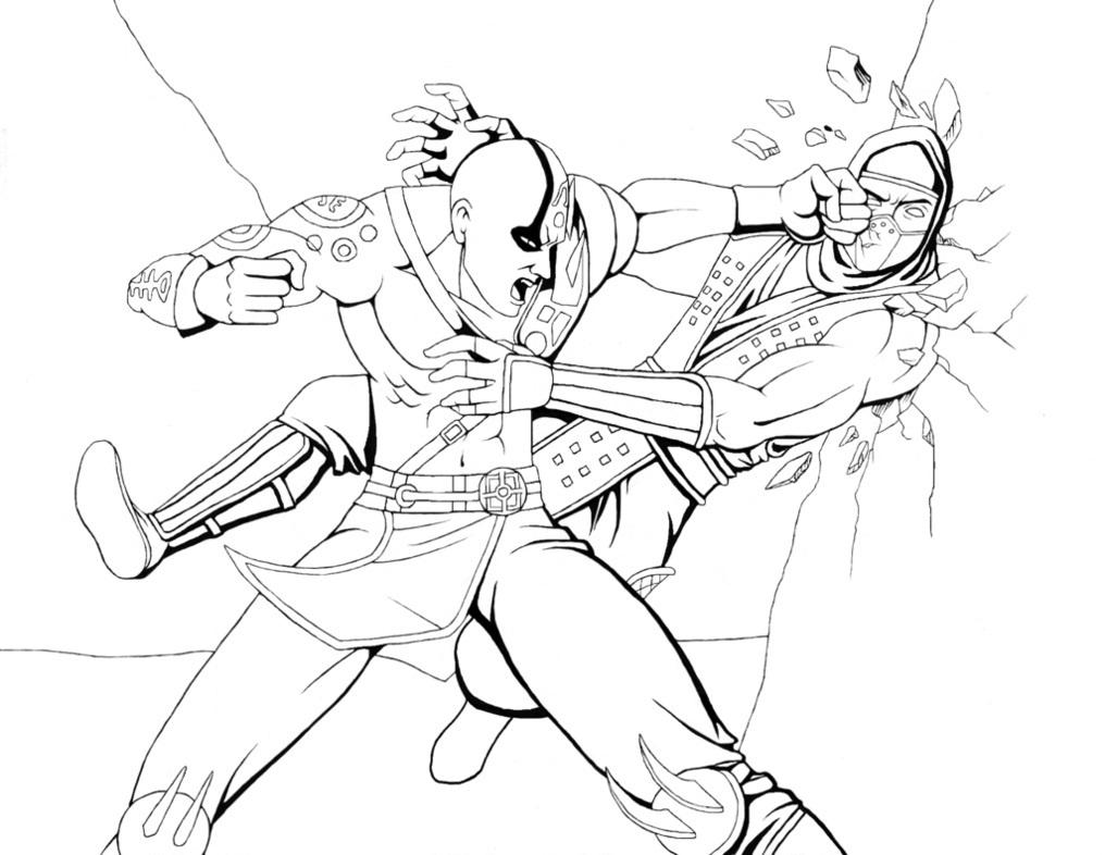 Mortal Kombat Coloring Sheets