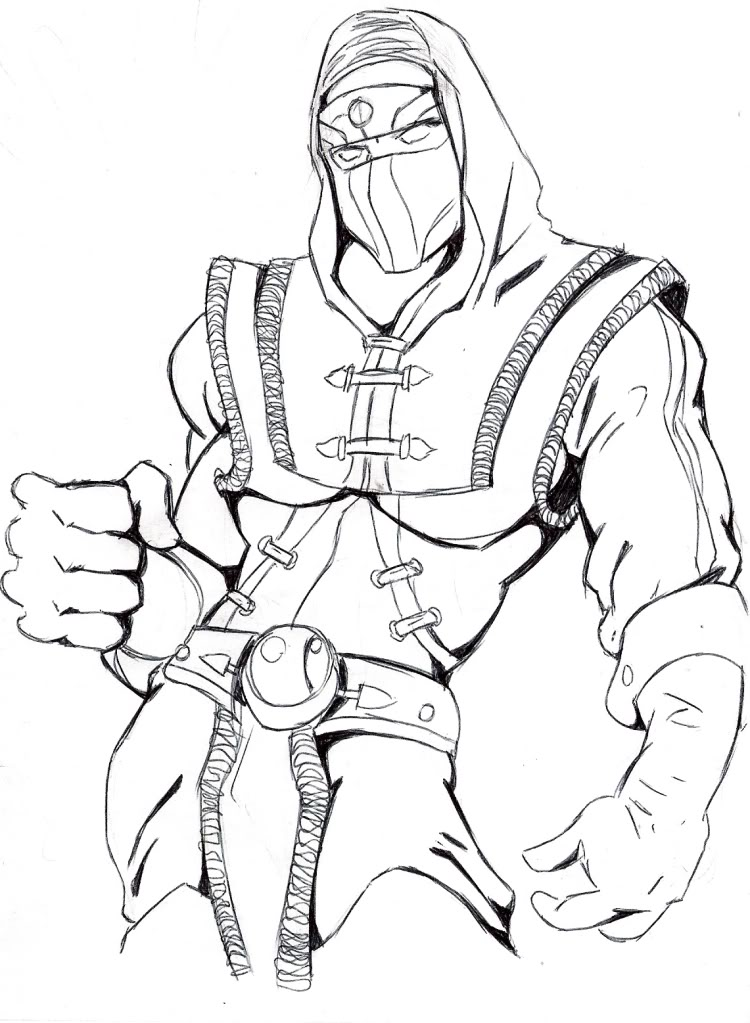Printable Mortal Kombat Coloring Pages Coloringme Com