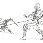 Printable Mortal Kombat Coloring Pages Coloringme Com