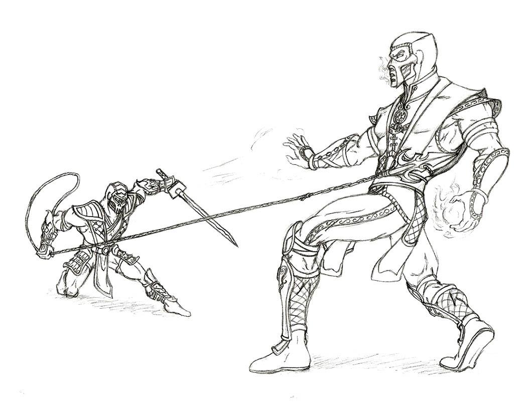 Printable Mortal Kombat Coloring Pages Me