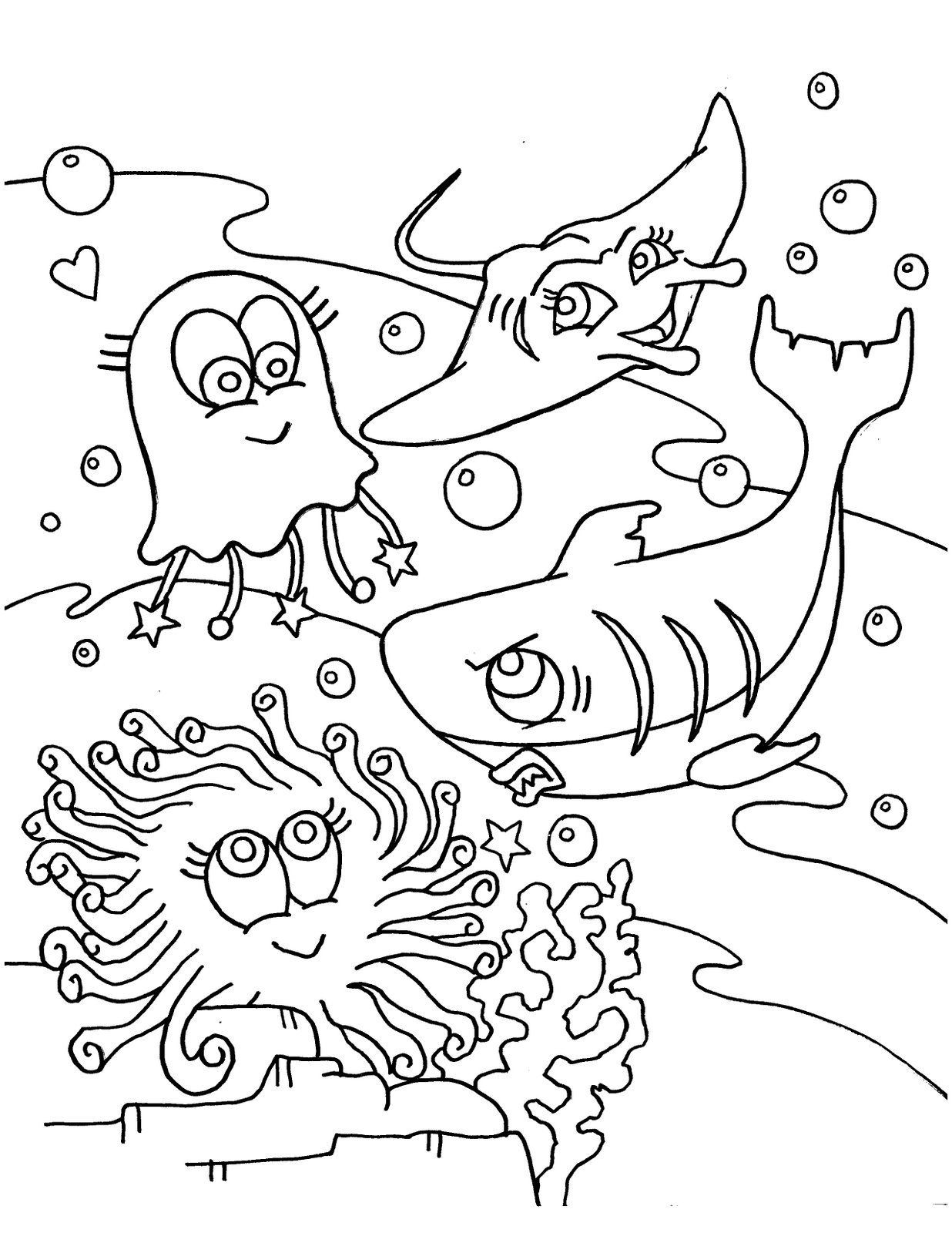 Printable Ocean Coloring Pages Coloring Me Sea Creatures Coloring Page