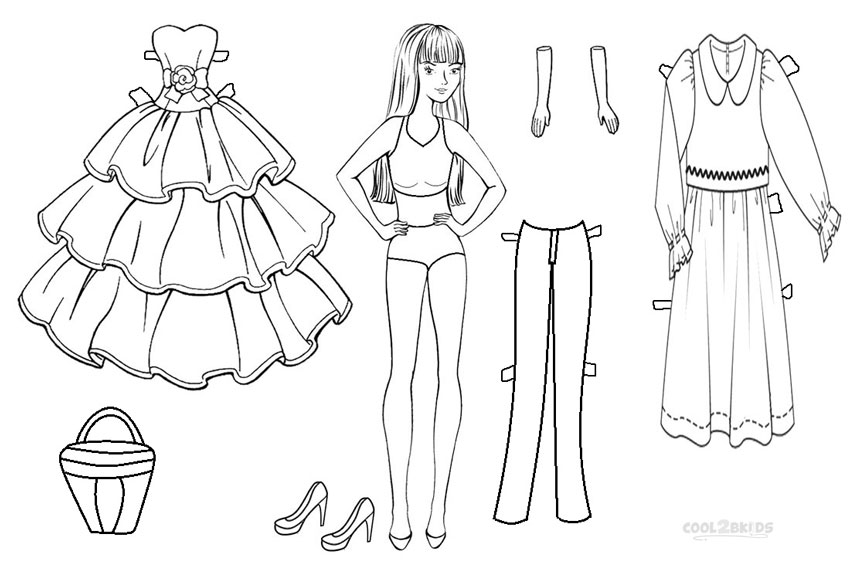 doll printable coloring pages - photo#30