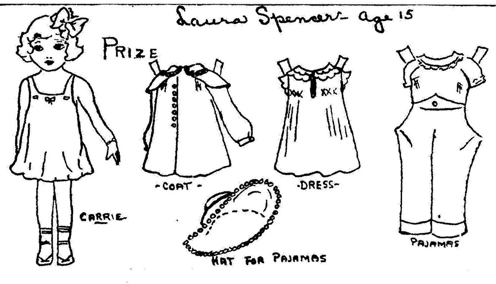Free Coloring Pages Of Paper Doll Clothes