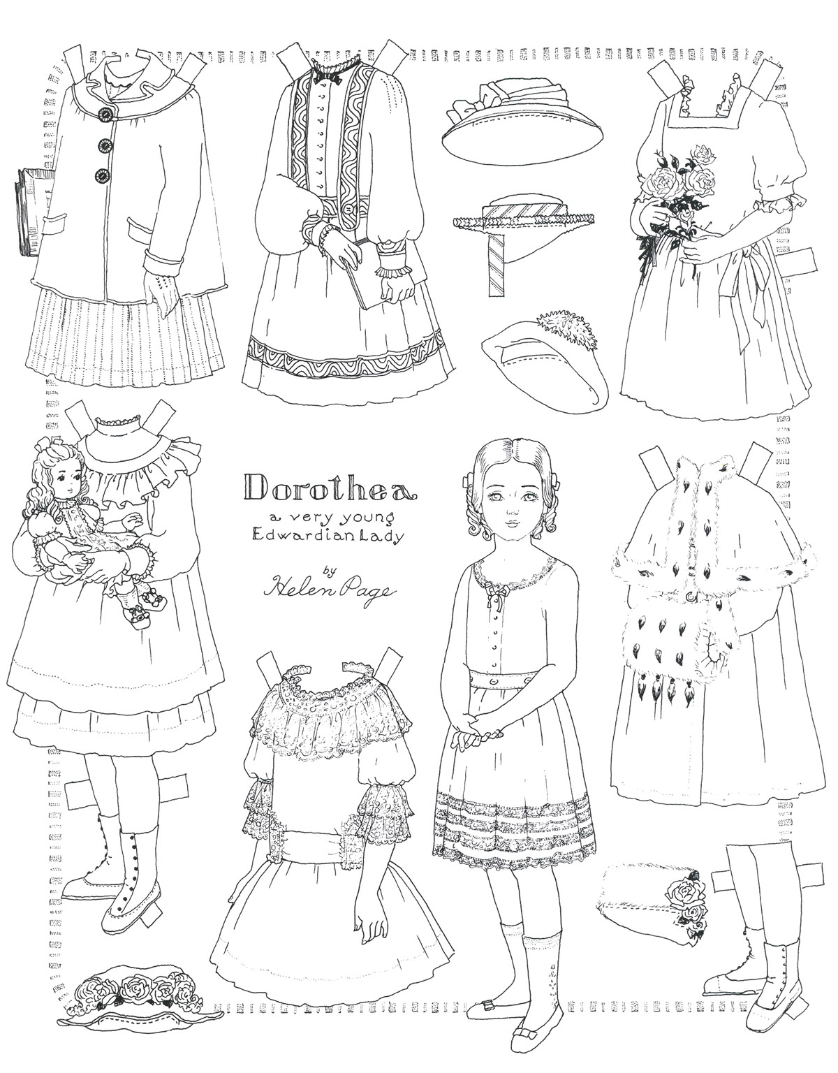 printable paper doll coloring pages | coloring me - Paper Doll Clothes Coloring Pages