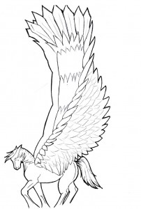 Pegasus Coloring Pages for Kids