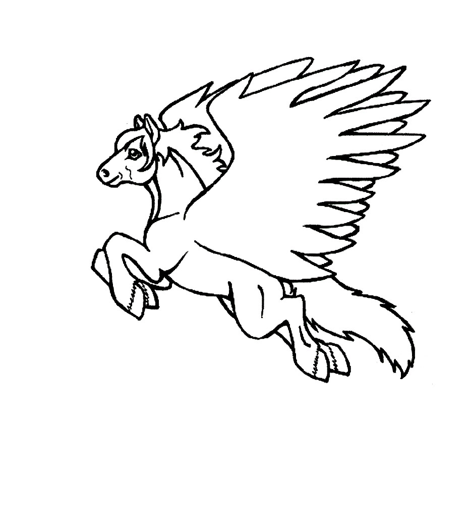 printable pegasus coloring pages coloring me