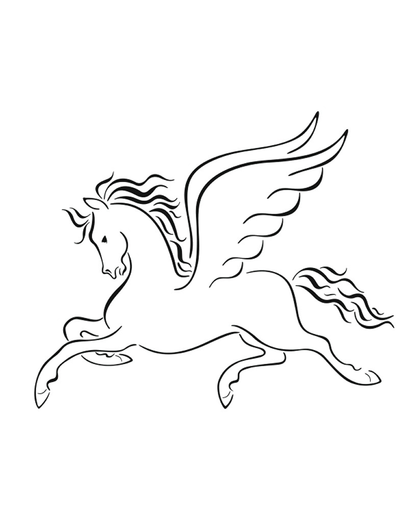 Pegasus free colouring pages for Coloring pages of pegasus