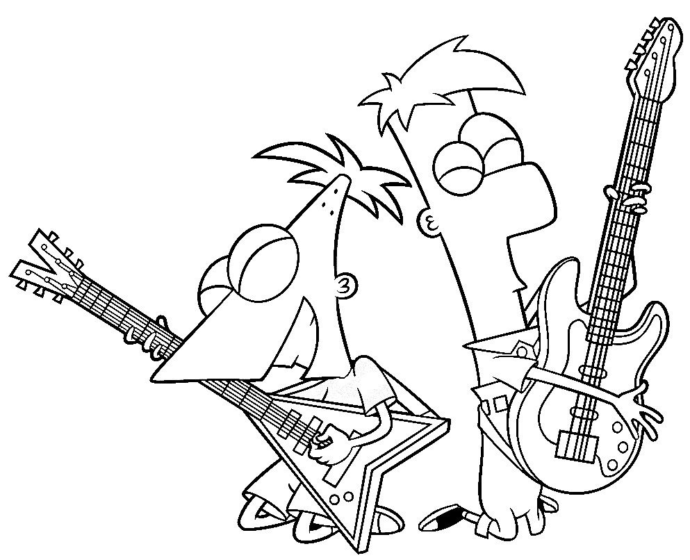 Printable Phineas And Ferb Coloring Pages Coloring Me Phineas And Ferb Coloring Pages Printable