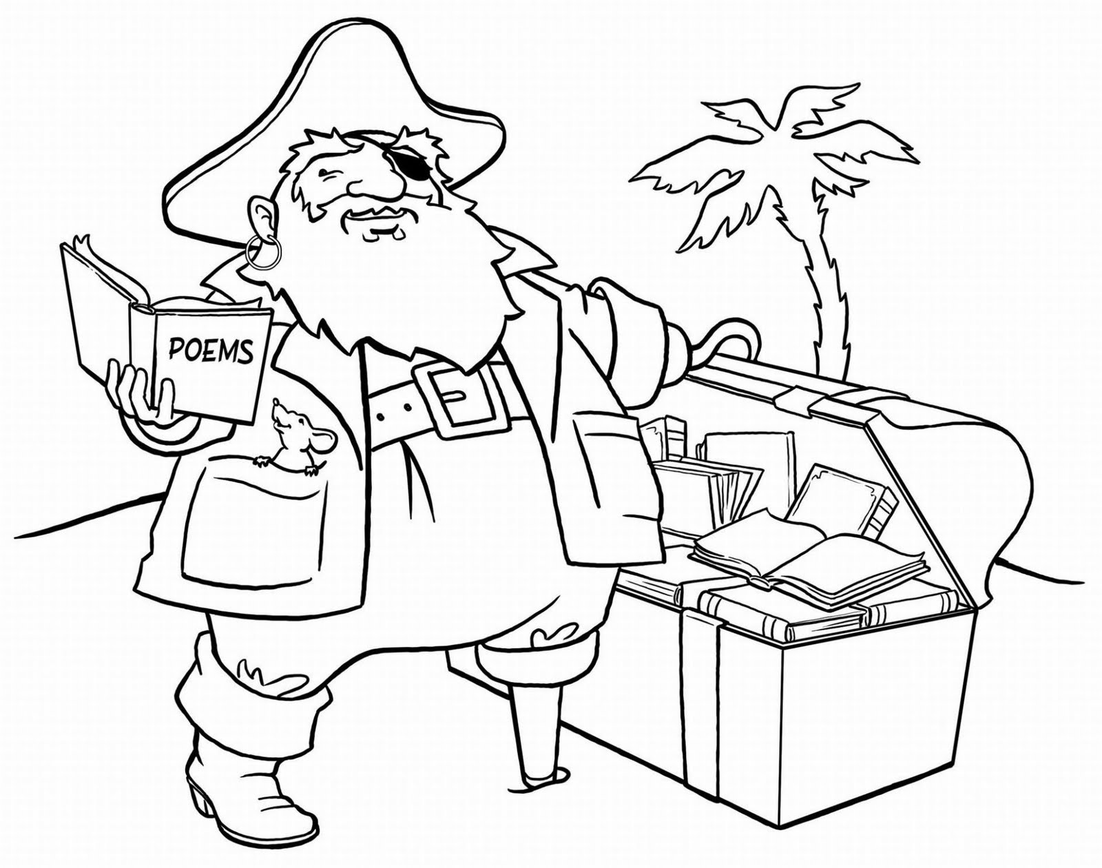 Pirate colouring pages to print - Pirate Coloring Sheets