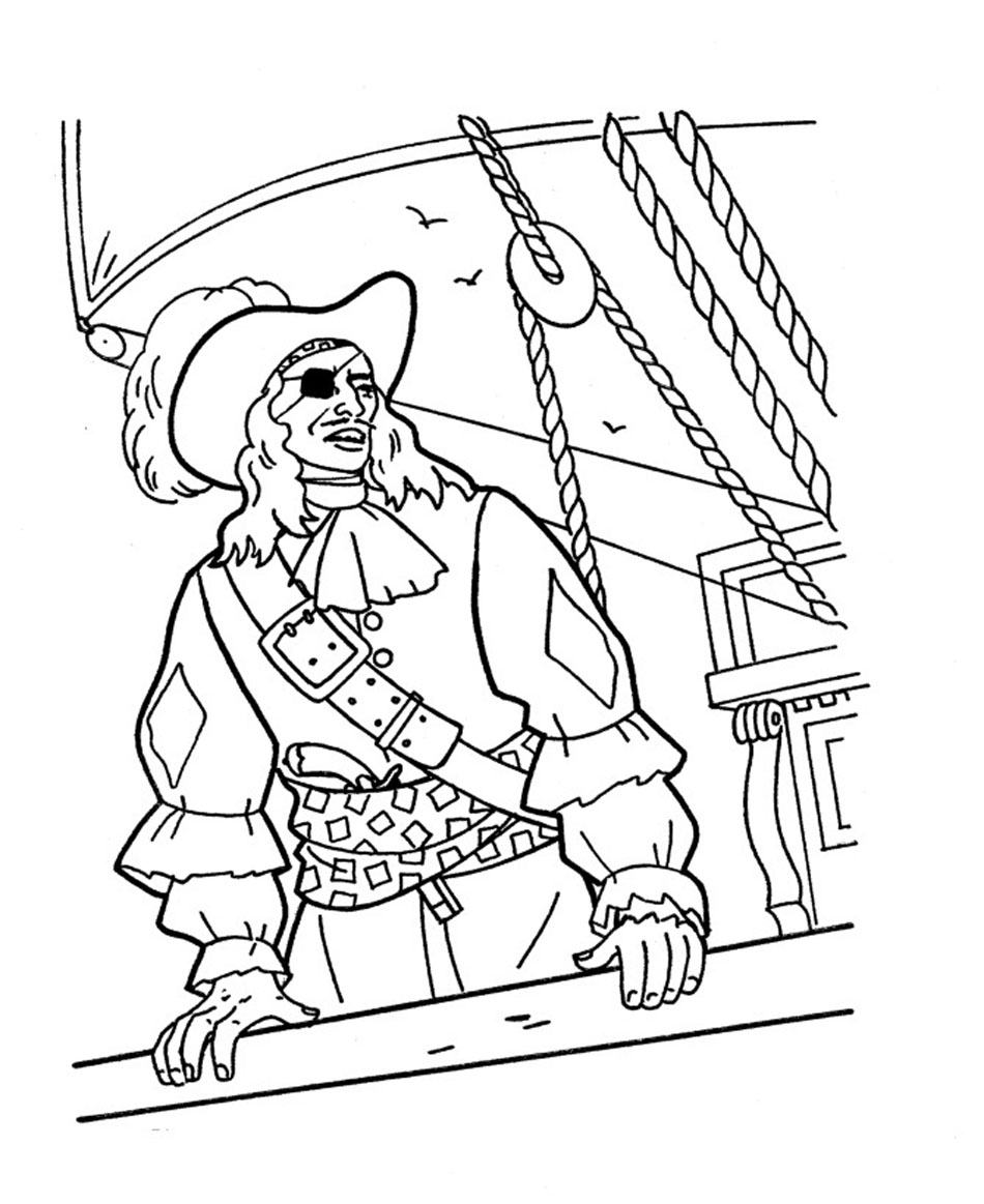 pirate coloring pages printable - sunken pirate ship coloring pages