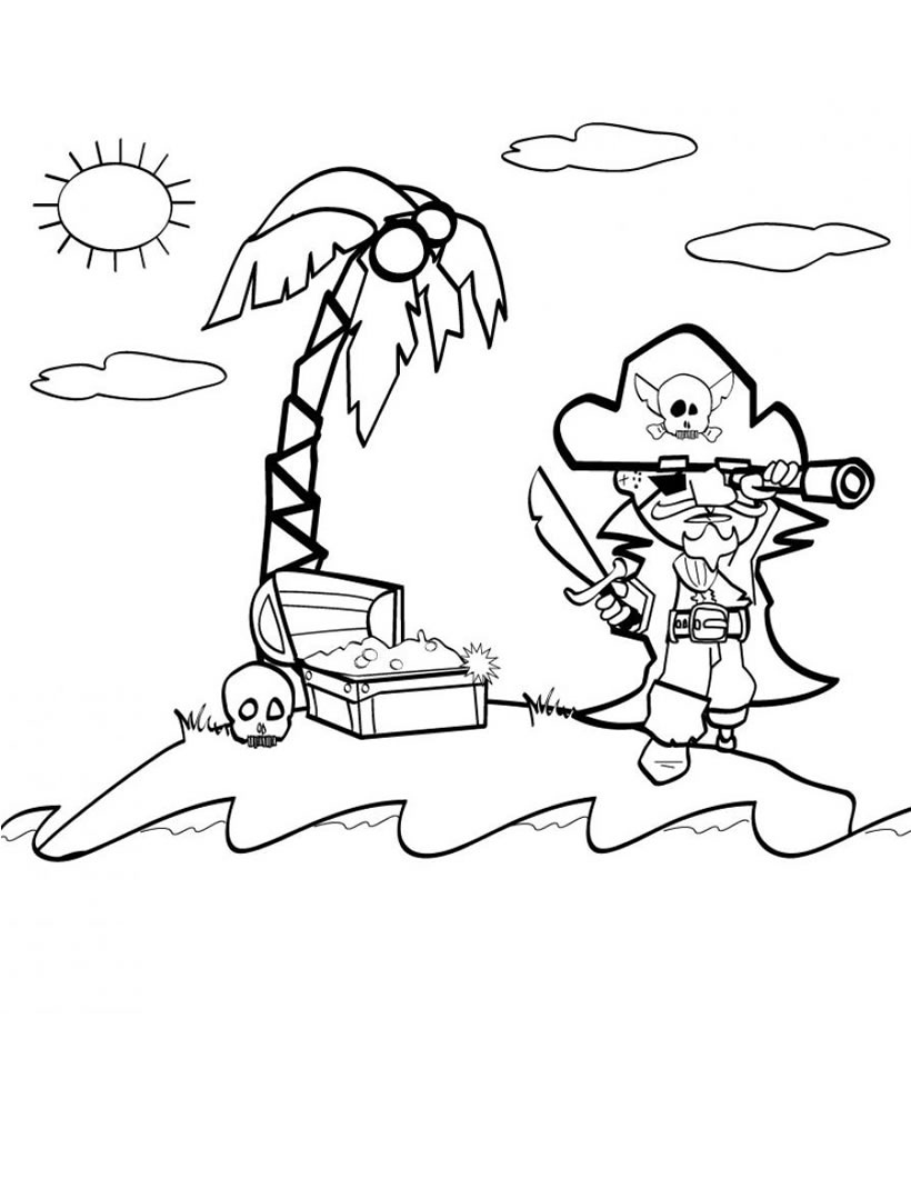 Patch The Pirate Coloring Pages download free - internetnex