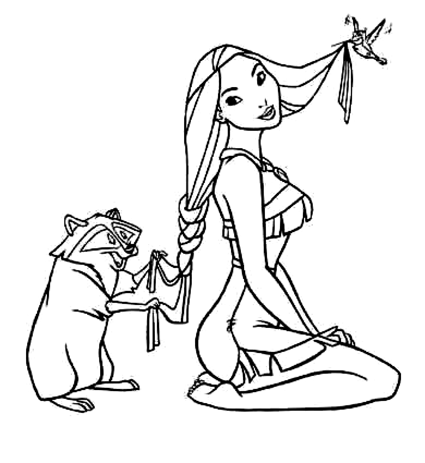 coloring pages pocahontas - photo#15