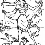 Pocahontas Printable Coloring Sheets