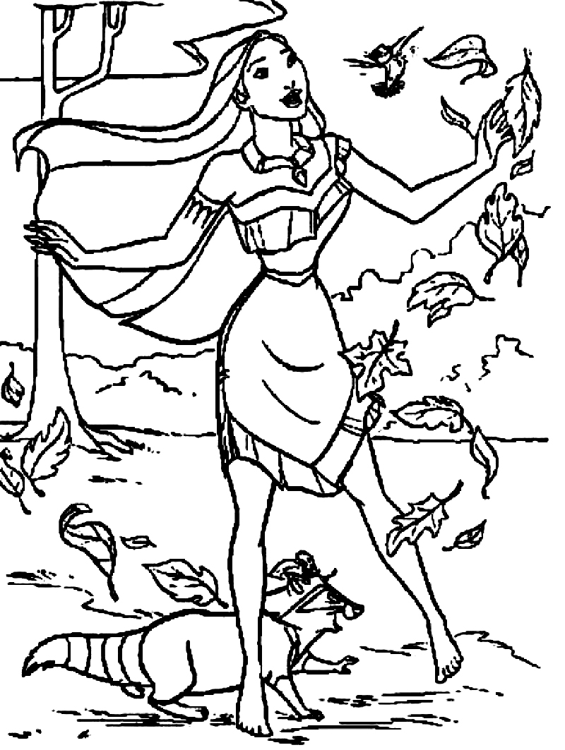 coloring pages pocahontas - photo#19