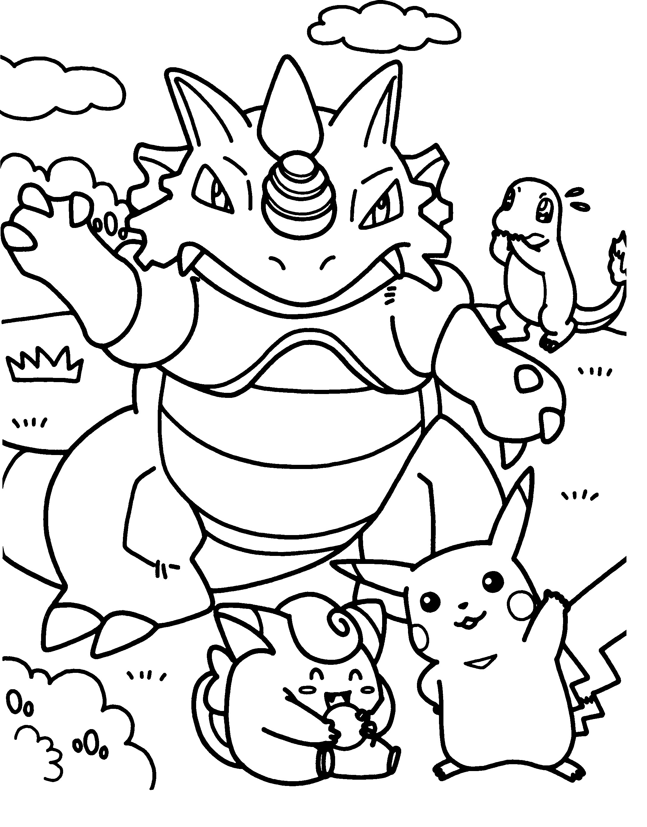 Pokemon-Coloring-Pages-for-Kids-Printable Leprechaun Coloring Pages