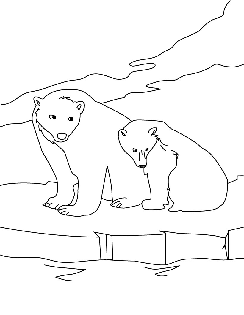 polar bear coloring pages. Polar Bear Coloring Page Printable Pages  Me