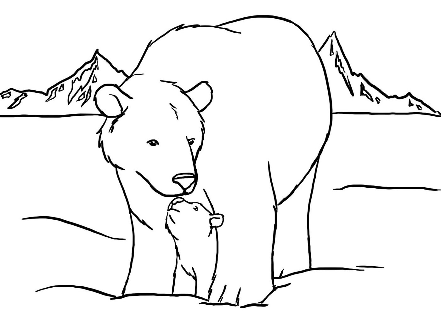 Adult Cute Coloring Pages Of Polar Bears Gallery Images best free printable polar bear coloring pages for kids the little images