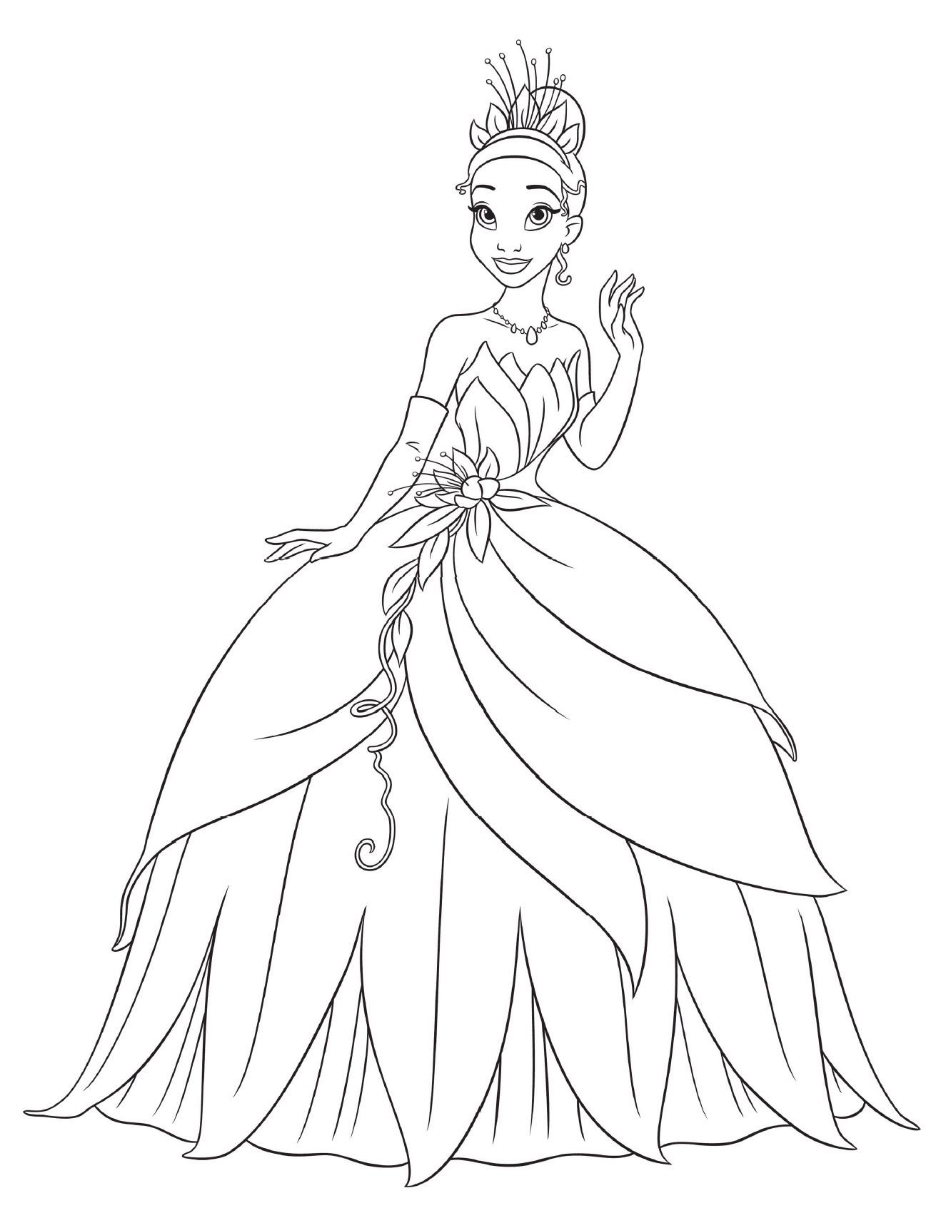 Printable Princess Tiana Coloring Pages