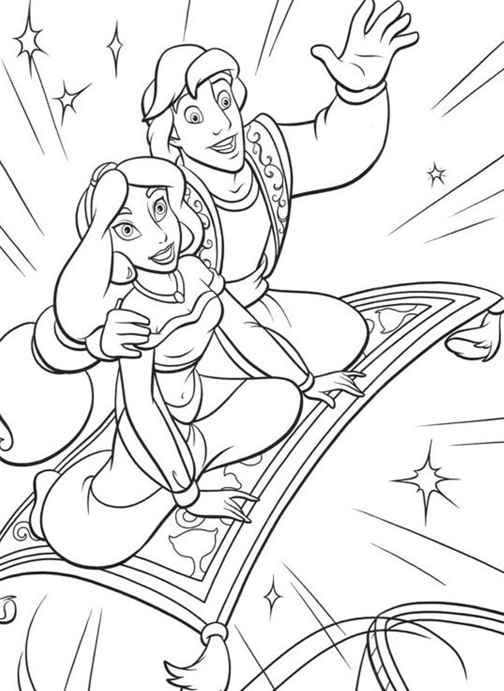 jasmine coloring pages to print - photo#31
