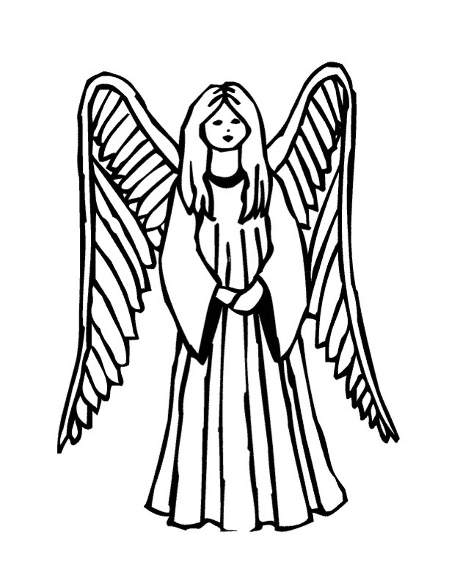 Printable coloring pages of angels coloring pages for Angel coloring pages