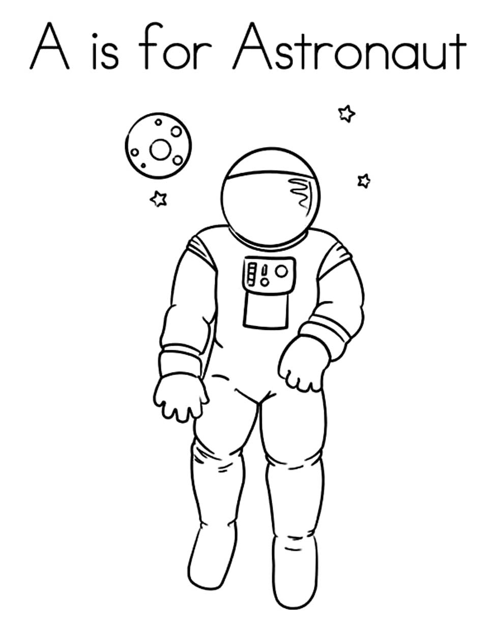 astronaut suit coloring sheet - photo #24