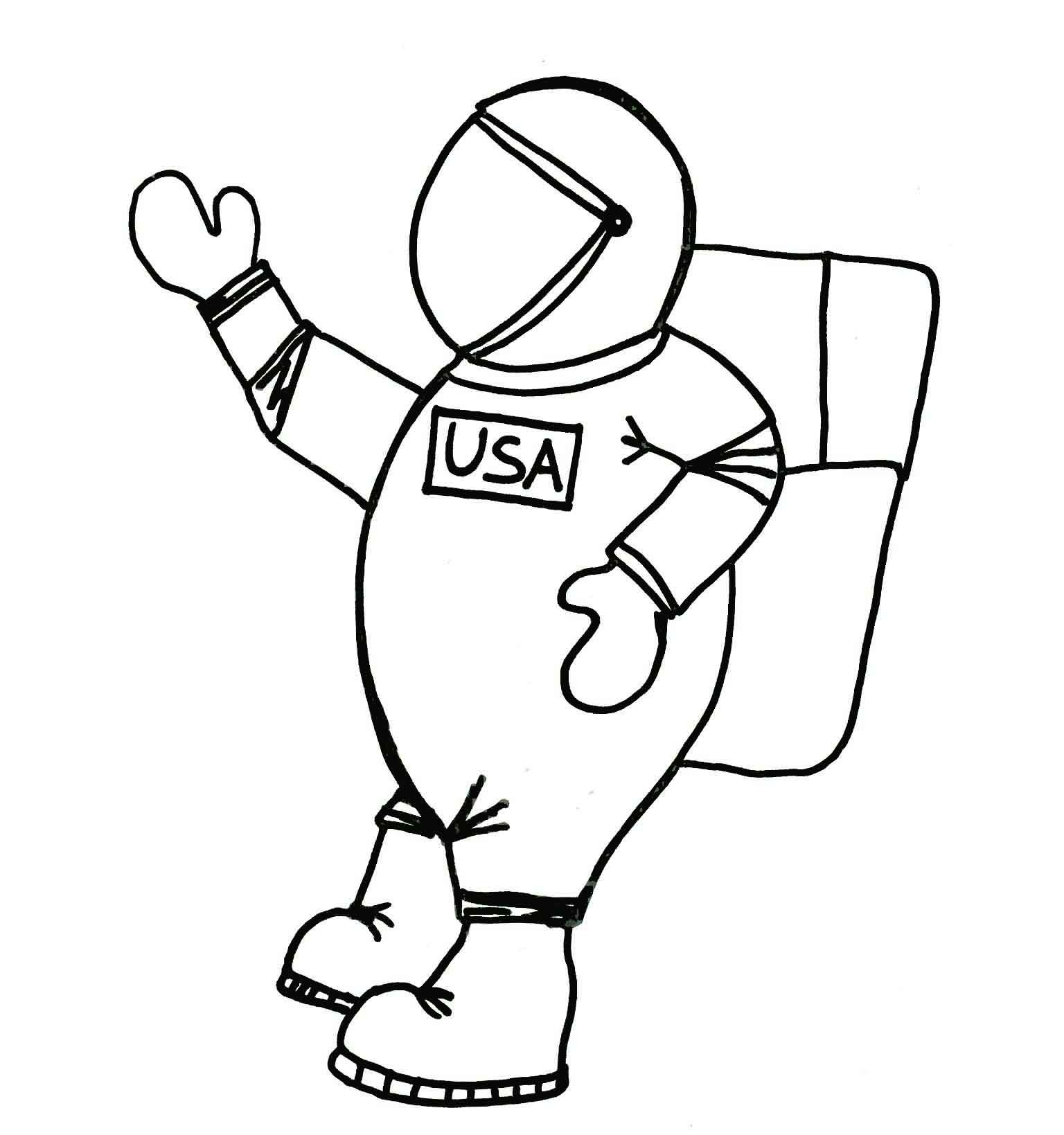 Printable Astronaut Coloring Pages | Coloring Me