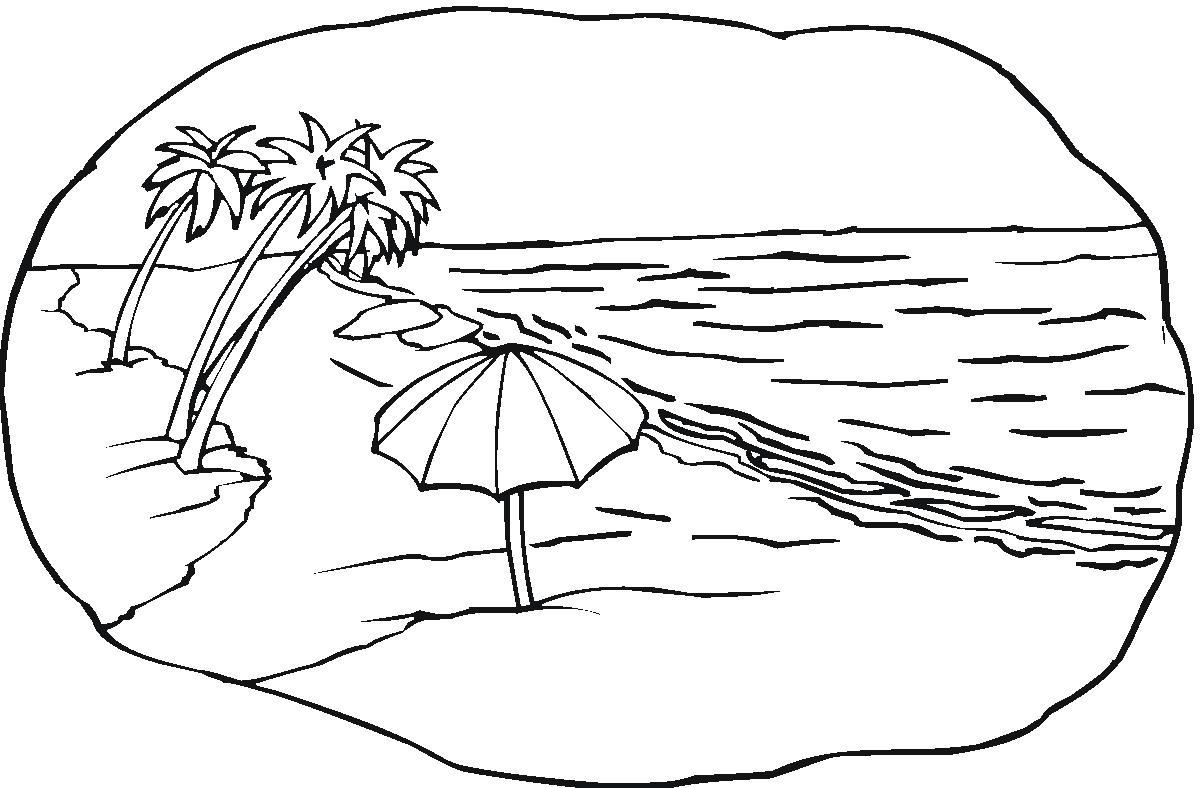coloring pages and beach - photo#11