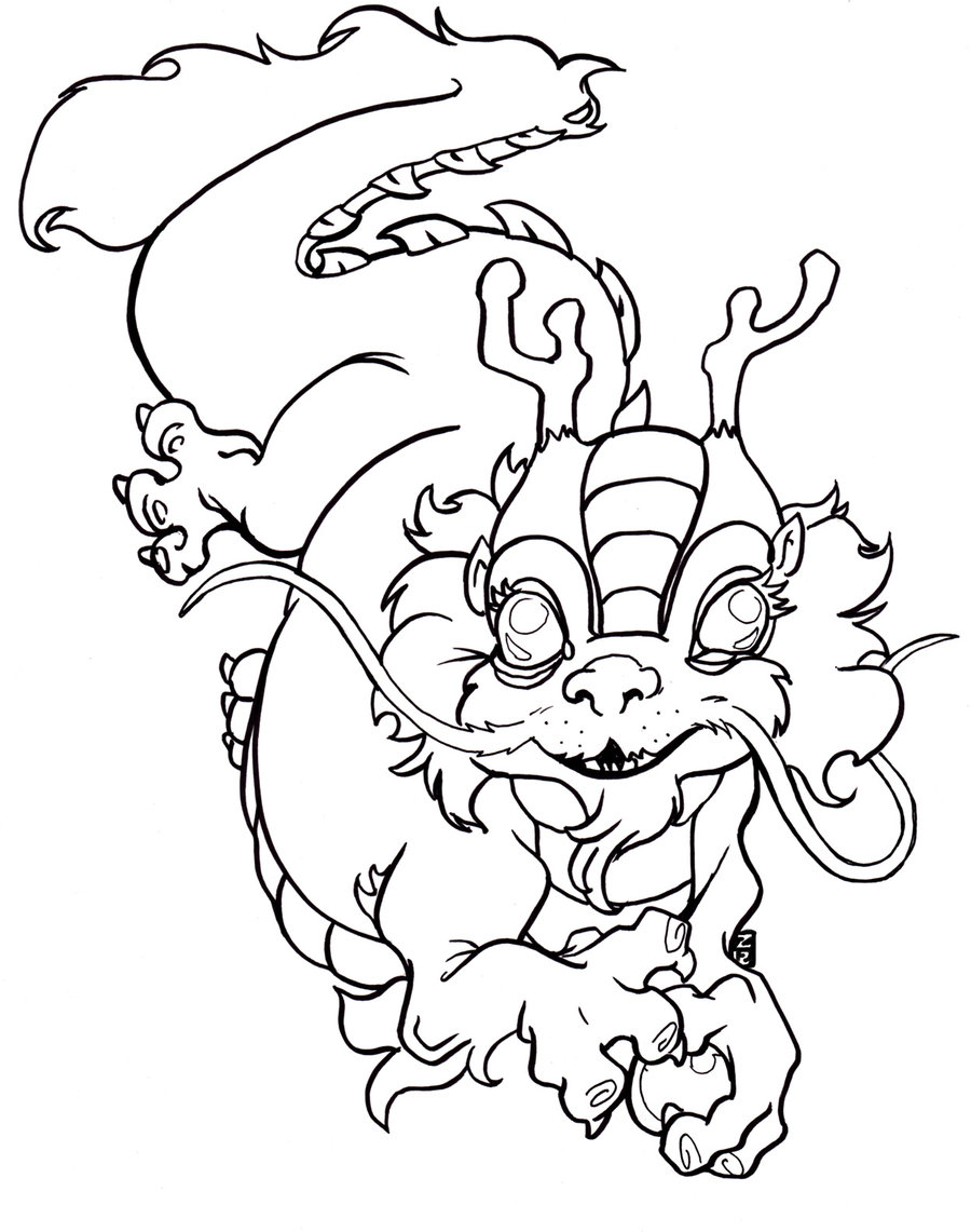 chinese new year dragon coloring page.  Printable Chinese Dragon Coloring Pages Me