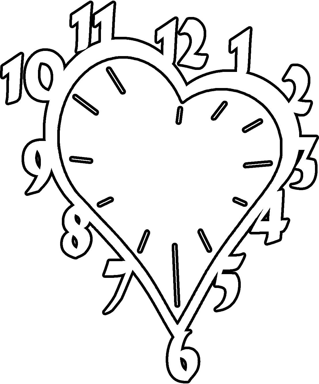 Раскраски часы для детей - 2