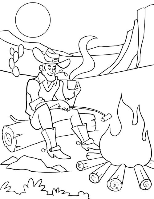 c is for cowboy coloring pages - photo #23