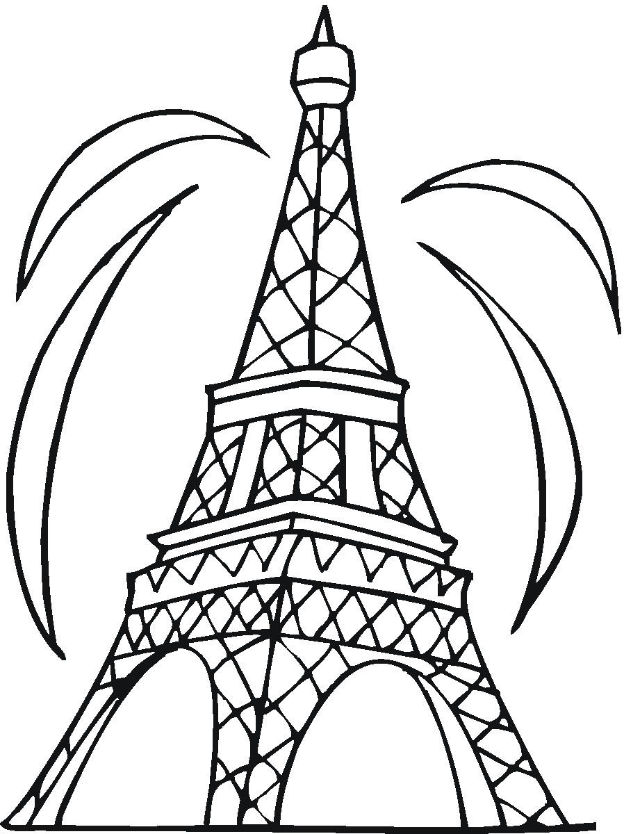 printable eiffel tower coloring pages
