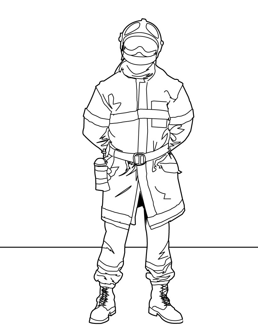 safety gear coloring pages - photo#35