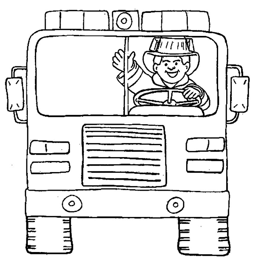 Free fireman firetruck coloring pages for Firefighter coloring pages printable