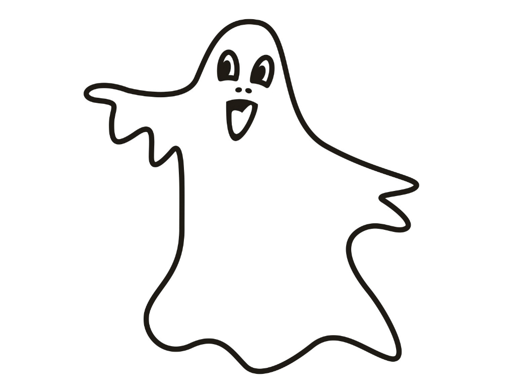 printable ghost coloring sheet