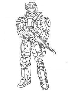 Printable Halo Coloring Sheets