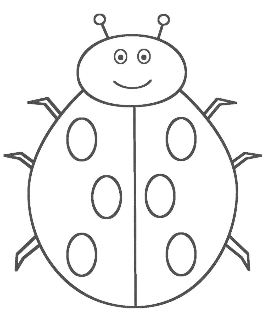 Ladybug Picture Coloring Pages Coloring Sheet Of A Printable