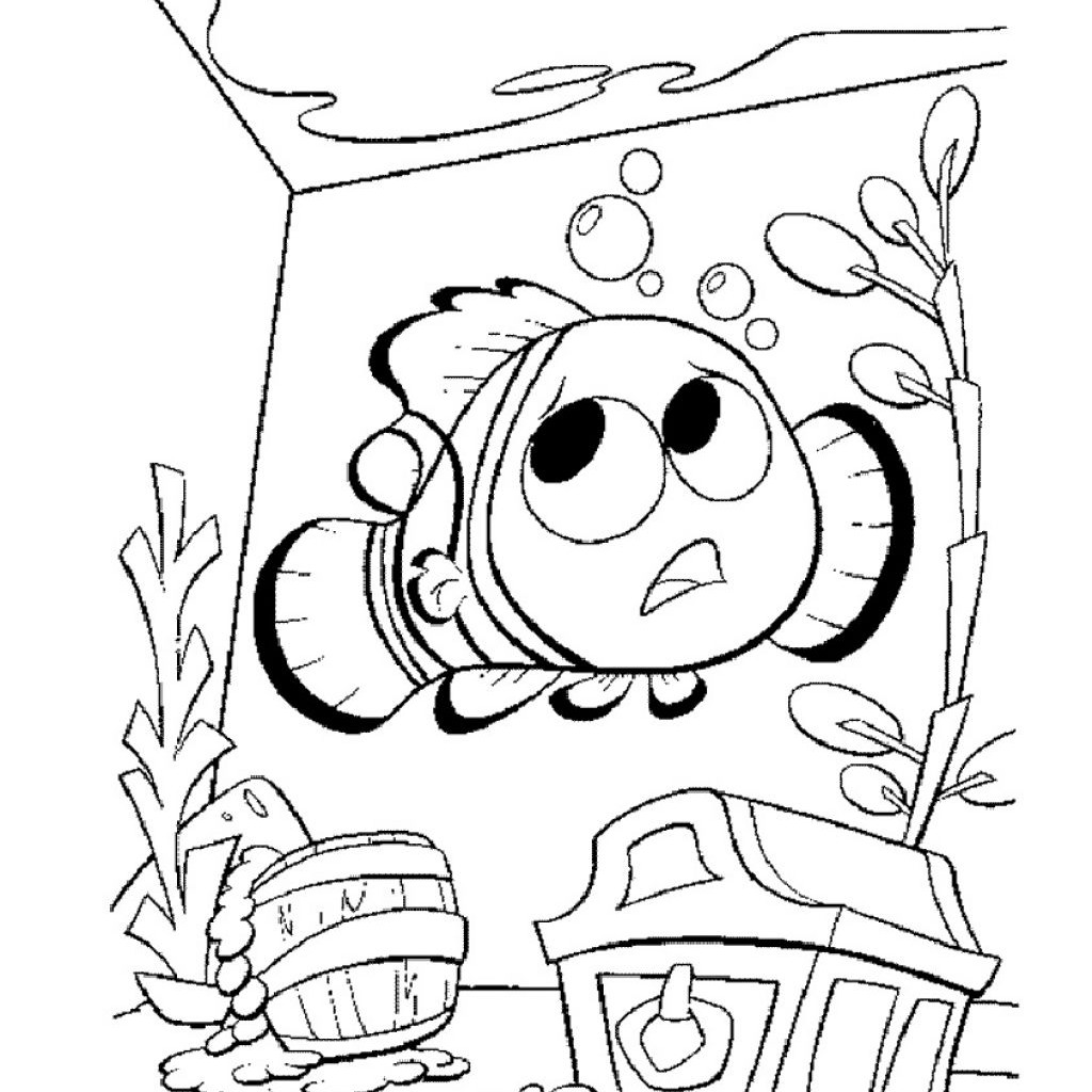 disney nemo crush coloring pages