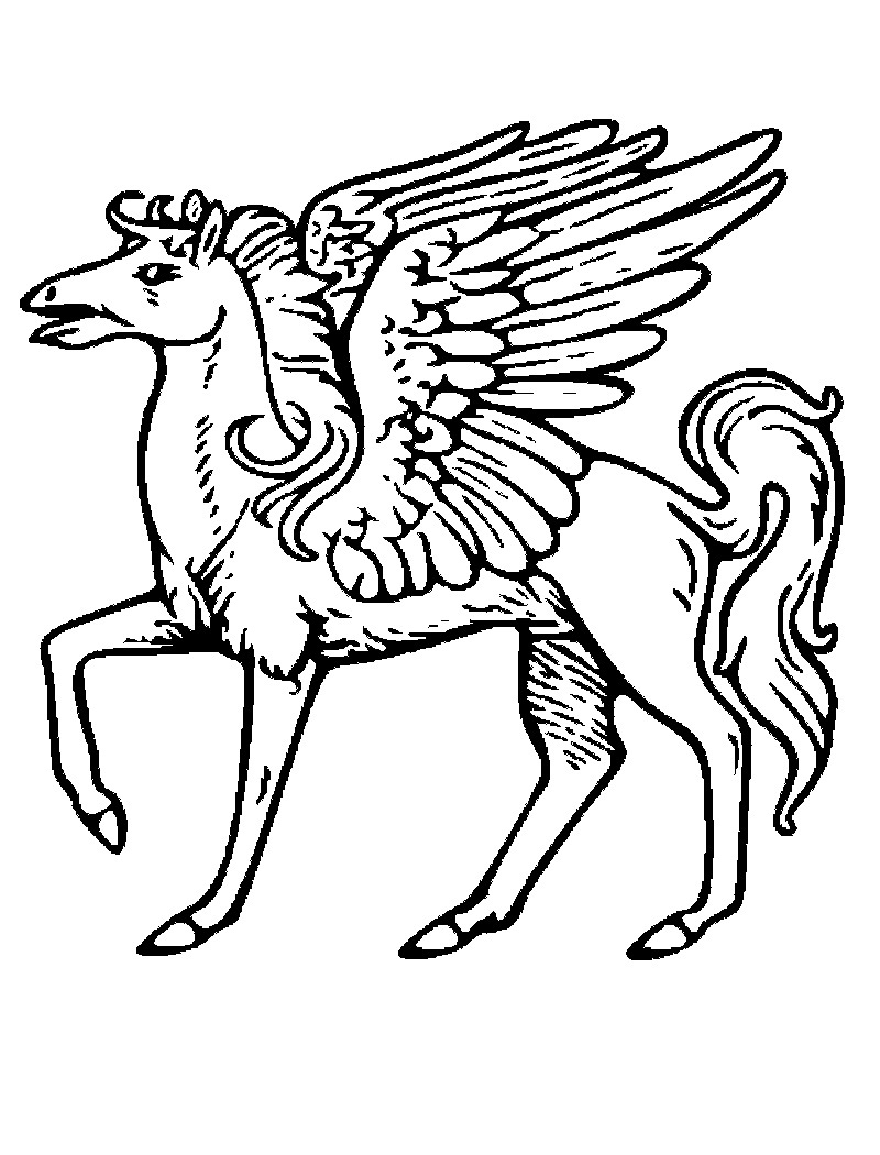 Printable Pegasus Coloring Pages