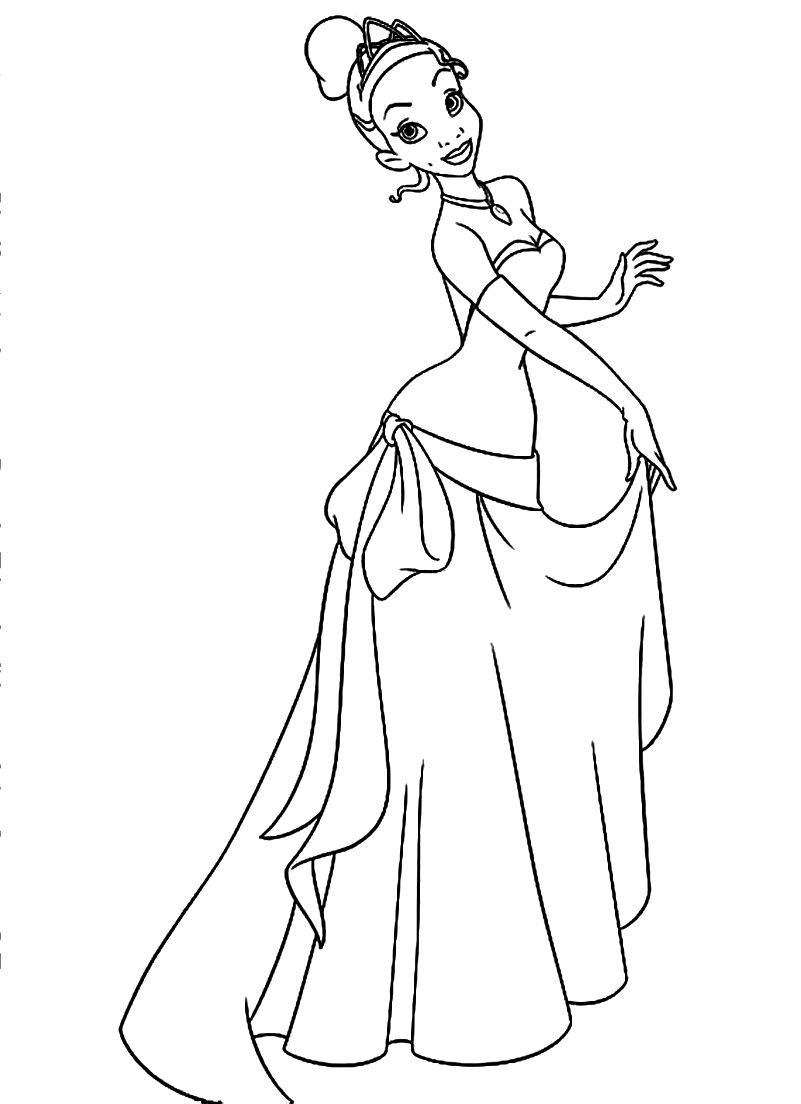 Printable Princess Tiana Coloring Pages | Coloring Me