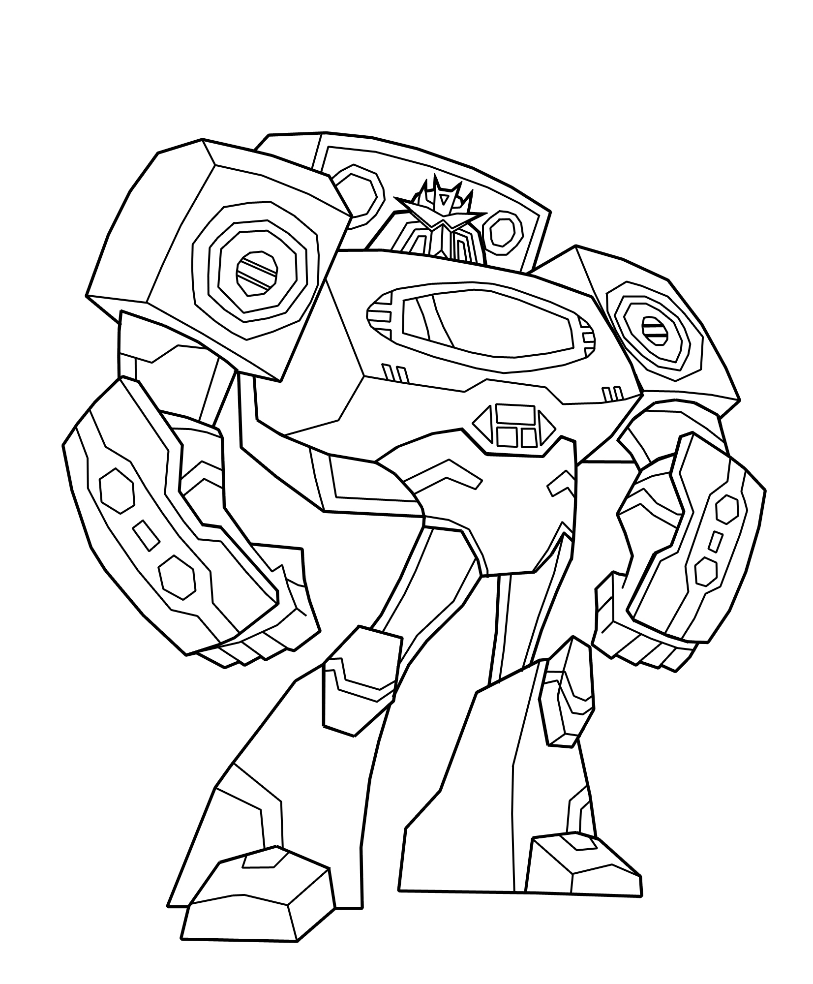 Transformers Coloring Pages Soundwave