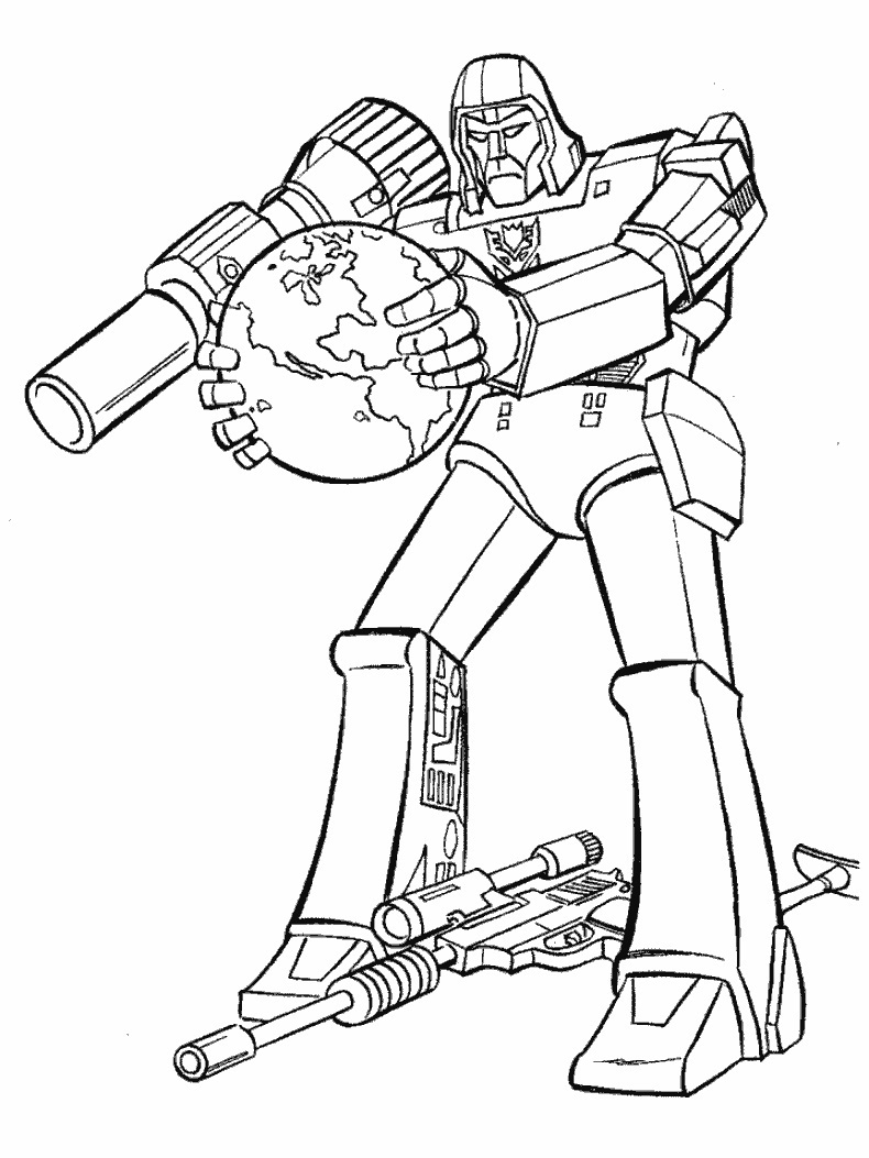 Free Coloring Pages Of Transformer Logo