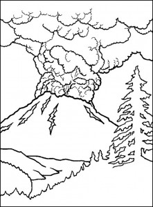 Printable Volcano Coloring Sheets