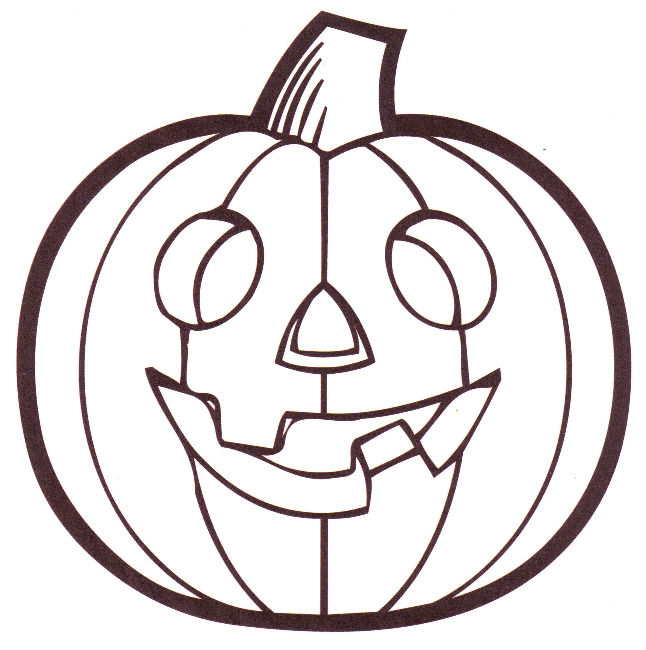 Free coloring page jack o lantern