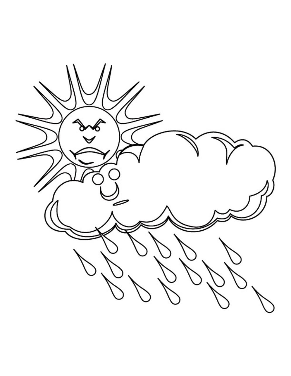 graphic about Printable Cloud named Printable Cloud Coloring Webpages
