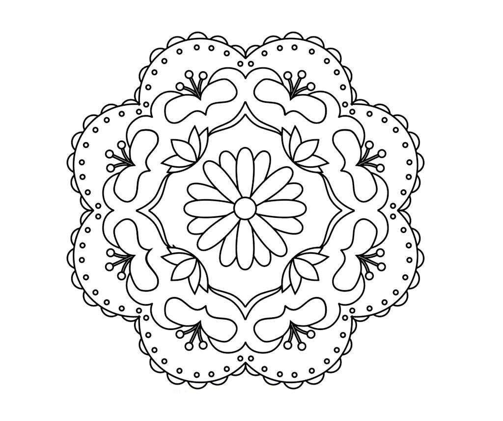Printable Rangoli Coloring Pages