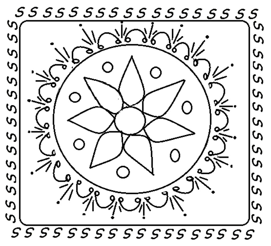 rangoli pattern colouring in images about mandala for kids on